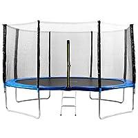 Preisvergleich für 123home24.com Trampolin 4m Fitness, blau - Garten-Trampolin mit Sicherheitsnetz Ultrasport Gartentrampolin, Kindertrampolin, Förderung