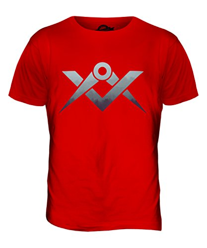 CandyMix Zirkel Wald Herren T Shirt Rot