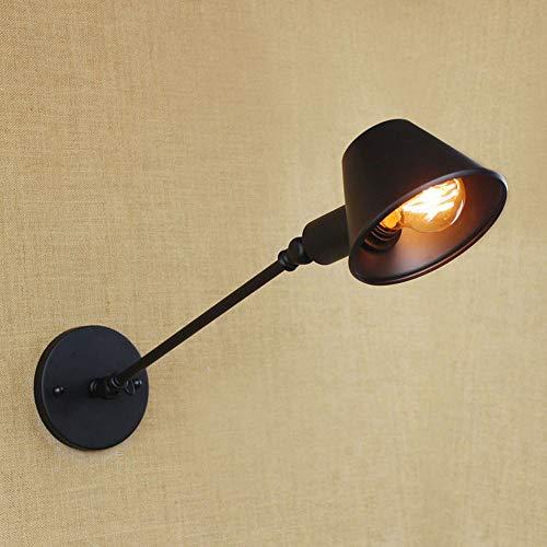 DXL-Home Decoration Heimtextilien American Industrial/Retro Einfache/Outdoor LED Strahler/Cafe/Restaurant Schmiedeeisen Wandleuchte -