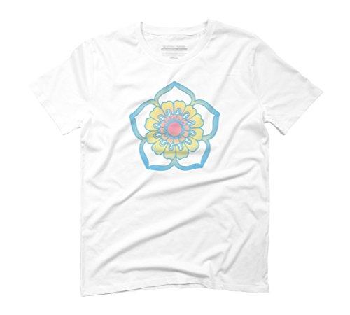 Digital daisy Men's Graphic T-Shirt - Design By Humans White