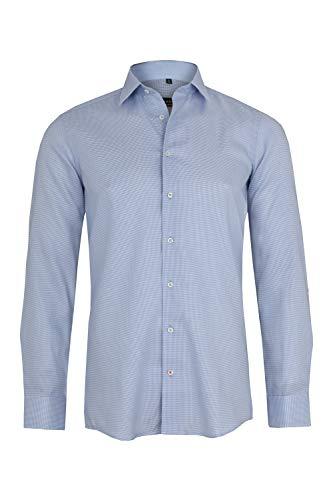 eterna Langarm Hemd Slim FIT Oxford strukturiert - Strukturierte Langarm-polo-shirt