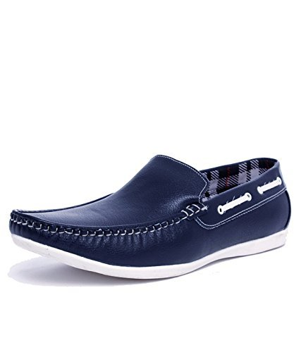 T-Rock Men's Blue Loafers & Moccasins Shoes (8, Blue)