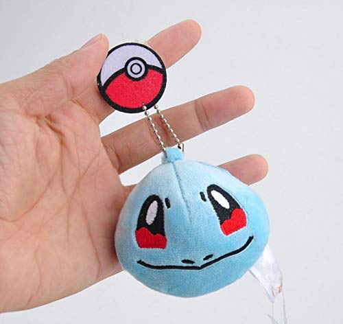 VAWAA 7cm Mode Schlüsselanhänger Pikachu Bulbasaur Charmander Snorlax Squirtle Schlüsselanhänger Anhänger Für Rucksack Taschen