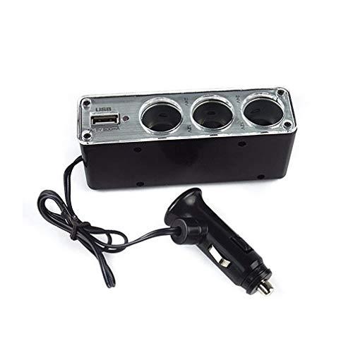 WdruAgdecbe PortáTil Auto Car Styling Sockets Way Adaptador De Mechero Splitter Accesorios Esenciales