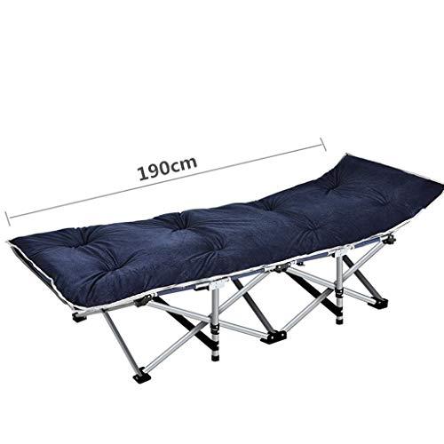 A-Qnice Zusammenklappbares Einzelbett 10 Sekunden Einziehbare Tragfähigkeit ist bis zu 400 kg Geeignet für Indoor-Außenbereich, Begleitende Betten, Campingbetten (Farbe : Blau)
