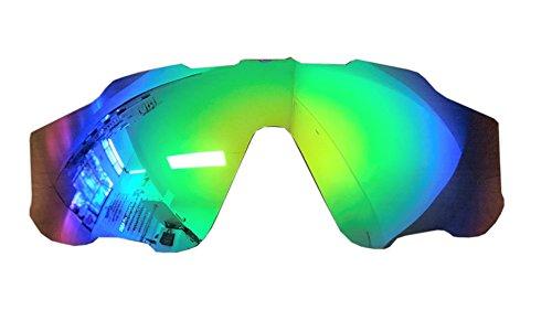 MZM Lenti Polarizzate di Ricambio per Oakley Jawbreaker (Scegli Il Colore) (Sapphire Green)