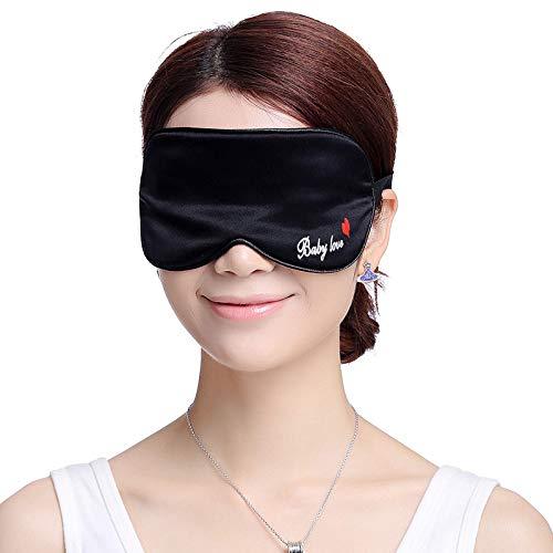 Silk eye mask sleep shading confortevole visiera traspirante regolabile pausa pranzo baby love