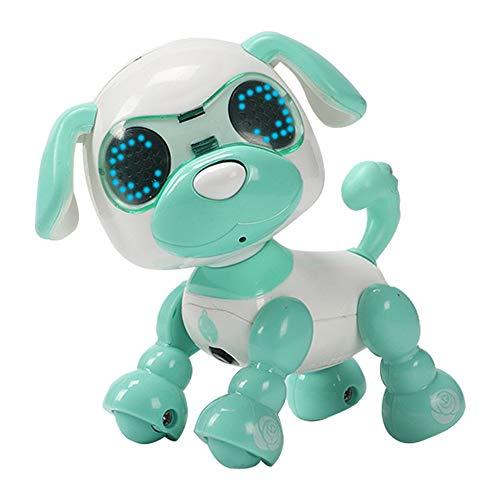 Singeru Intelligente Roboter Hund Kinder intelligenter Haustier Spielzeug Smart Touch-Induktion elektrisches Spielzeug Welpe elektronisches Haustier 4-6 Jahre Kinderspielzeug (Grün)
