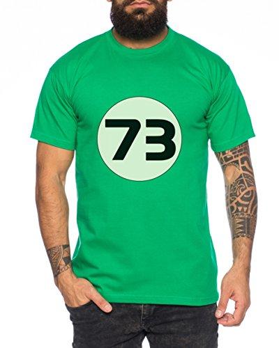 Big Sheldon73 Bang Theory Nerd Herren T-Shirt Grün