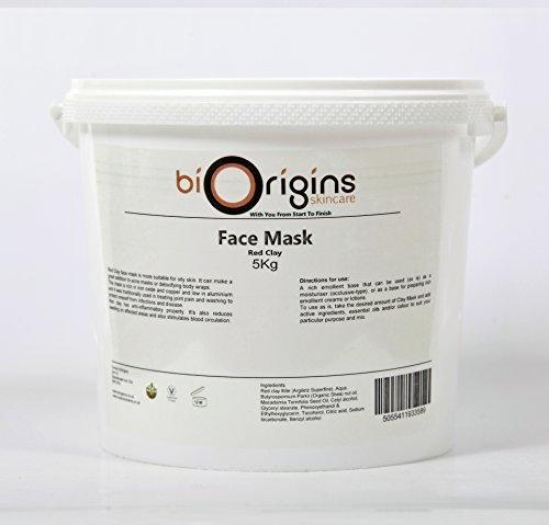 Gesichts-Maske - Roter Ton - Botanische Hautpflege-Basis - 5Kg (Stricken-gesicht-maske)