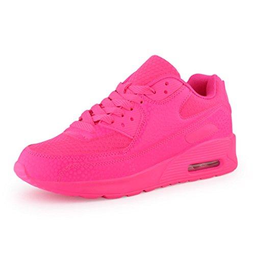 best-boots Unisex Damen Herren Sneaker Laufschuhe Turnschuhe Pink 1330 Größe 36