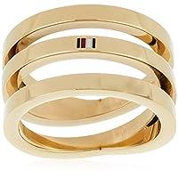 خواتم مصنوعة من فولاذ مطلي بالذهب الايوني للنساء من تومي هيلفجر - موديل 2701100C