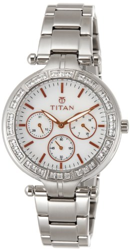 Titan Women's Purple Analog White Dial Watch