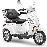 Elektroroller LuXXon E3800 - Elektro Dreirad für Senioren mit 800 Watt, max. 20 km/h, Reichweite bis zu 60 km, weiß