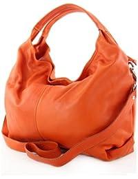 modamoda de - ital. Ledertasche Damenhandtasche Schultertasche Damentasche Nappaleder DS26