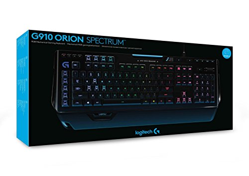 Logitech G910 Orion Spectrum Mechanische RGB-Gaming-Tastatur (QWERTZ, deutsches Layout) schwarz - 4