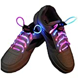 LED Cordones - TOOGOO(R) Intermitente Bright LED Cordones de los Zapatos Cordones Luminosos de 80cm multicolor