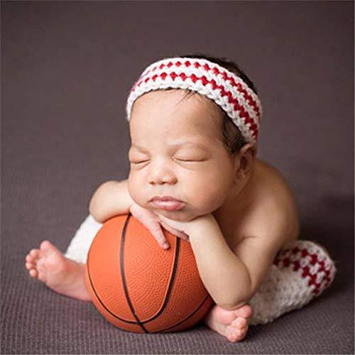ENCOCO Baby-Foto-Requisiten, gehäkelt, gestrickt, Basketball-Foto-Shoot-Outfits für Jungen, Fotografie (Basketball-shorts , Kleinkind,)