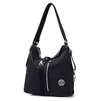 41BHD4IfriL. SS324  - Outreo Bolso Bandolera Mujer Bolsos de Moda Impermeable Mochilas Bolsas de Viaje Sport Messenger Bag Bolsos Baratos Mano para Escolares Tablet Nylon