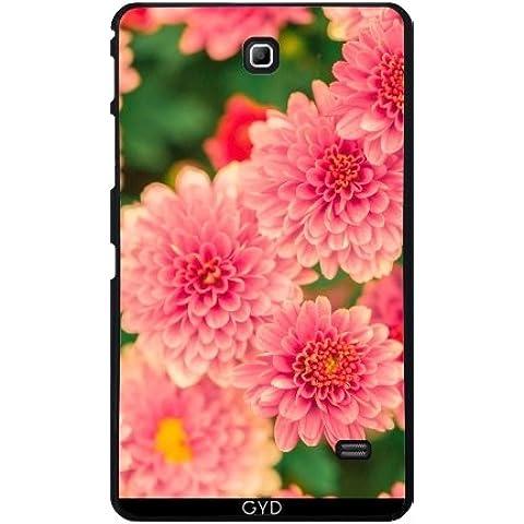 Funda para Samsung Galaxy Tab 4 (7 pulgadas) - Dalias Rosadas Flores Floral by Petra