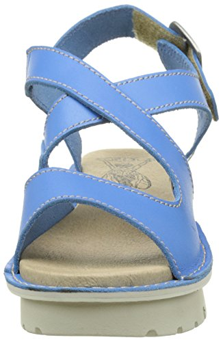 FLY London Kimb456, Sandales Bride Arriere Femme Bleu (Smurf Blue 004)