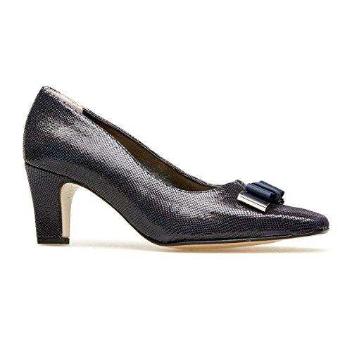 Van Dal Women's Kett Closed-Toe Heels, Blue (Midnight Reptile Print), 6 UK...