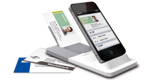 Scanner Portable Pro De Carte De Visite Pour Iphone 4 4s Worldcard Link Pro
