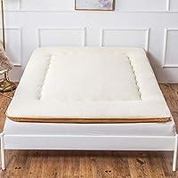 WJH Mullido colchón de Espesar, Estera del Piso del futón Tatami japonés Suave Cómodo Microfibra