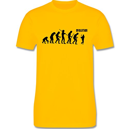 Evolution - Baseball Evolution - Herren Premium T-Shirt Gelb