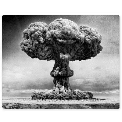Atomic Bomb Explosion Nuclear Mushroom Cloud Vinyl Sticker - Car Window Bumper Laptop Bumper Sticker Decal -