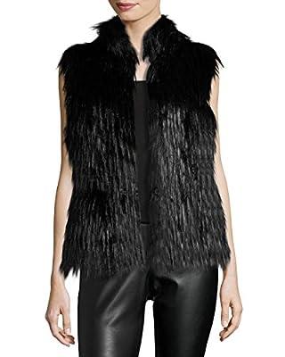 Michael Kors Womens Faux Fur Vest Black Small