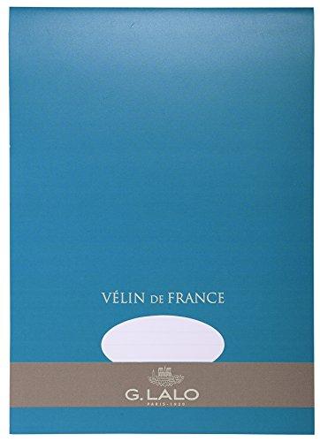 G.Lalo 13000L Schreibblock Vélin de France (DIN A4, 21 x 29,7 cm, 50 Blatt, 100 g) weiß