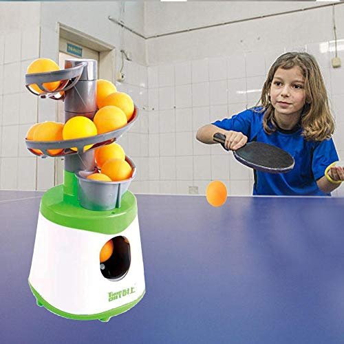 Sensecrol Tischtennisball Maschine Kinder Ping Pong Automatische Servierpitching Maschine Praxis Kinderspielzeug für den Innen- und Außenbereich -