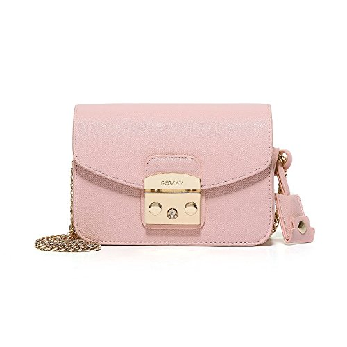 Syknb Alle Treffer Kette Netzsacks Tasche Kleine Tasche Mini - Tasche Pink