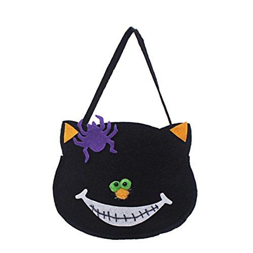 Preisvergleich Produktbild Halloween Kürbis Süßigkeiten Taschen,Glückliche Halloween-Süßigkeit-Beutel-Imbiß-Paket-Kind-Haushalt-Kind-Garten-Ausgangsdekor By JIANGFU (C) (C)