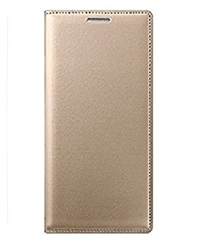 Colorcase Leather Flip Cover Case for Samsung Galaxy J7 Nxt - (Gold)