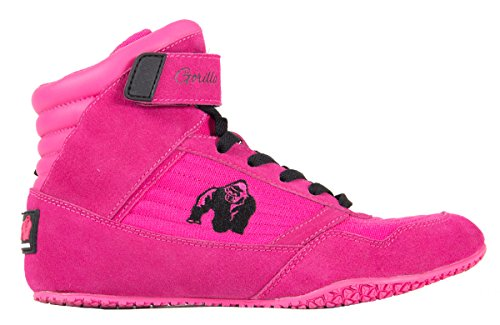 Gorilla Wear Rosa Rosa delle donne, scarpe fitness, Donne, High Top, palestra, sport Rosa