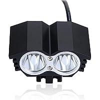 Bicicletta faro proiettore a LED Super Bright IPX65 impermeabile aerei alluminio-Attrezzatura (Batterie Carry Di Sistema)