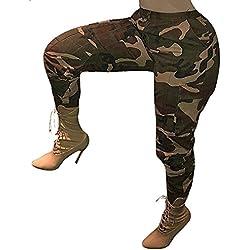 Manadlian-Pantalon Femmes Automne et Hiver Camo Cargo Casual Militaire ArméE Combat Camouflage Pantalon Casual Pantalon de Taille Haute