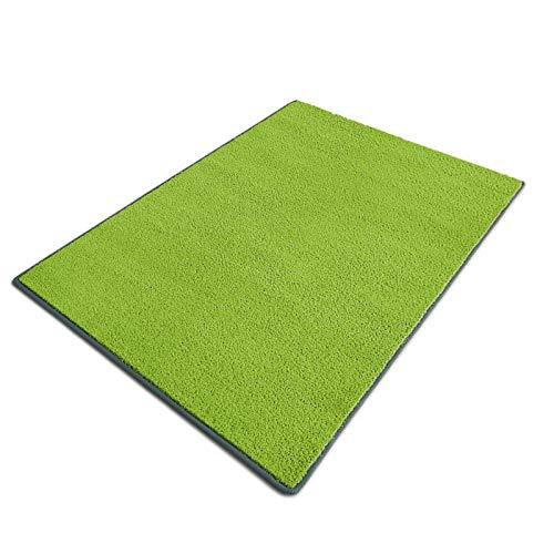 casa pura Teppich Noblesse | viele Größen | mit GUT-Siegel | flauschig getufteter Flor in modernen Farben | für Wohnzimmer, Schlafzimmer, Jugendzimmer (grün, 100x150 cm)
