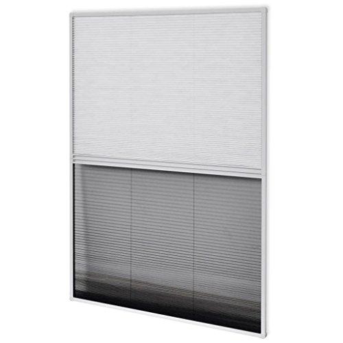 vidaXL 142615 - Zanzariera plissettata, telaio in alluminio, colore: bianco