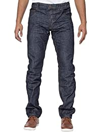 ETO Jeans Mens Tapered Fit Smart Casual Darkwash Denim Jeans28-42