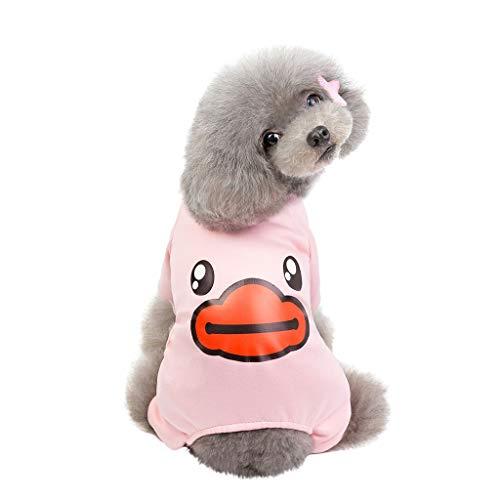 Smniao Hundebekleidung für Kleine Hunde Schlafanzug Pullover Sweatshirt Niedliche Haustier Kostüme für Welpen Chihuahua (M, - Niedliche Kostüm Für Chihuahuas