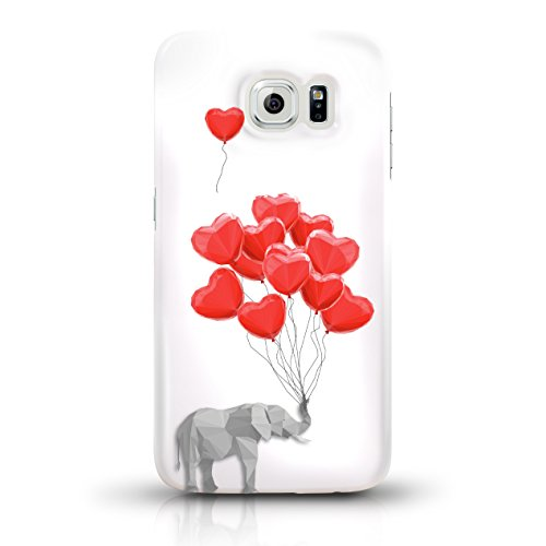 """JUNIWORDS Handyhüllen Slim Case für Samsung Galaxy S6 - Motiv wählbar - """"Majestätischer Hirsch"""" - Handyhülle, Handycase, Handyschale, Schutzhülle für Ihr Smartphone Elefant mit Herzen"""