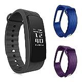 Pulsera de fitness–ouivallée mypulse–Bluetooth 4.0Sensor de ritmo cardíaco podómetro Sleep Tracker actividad física