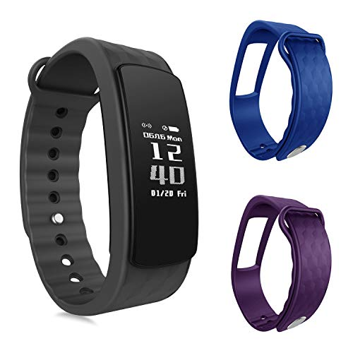 OuiVallée Bracelet connecté MyPulse - Marque Française - Capteur Cardiaque Podomètre Sommeil Bluetooth 4.0 - Tracker Activité Physique