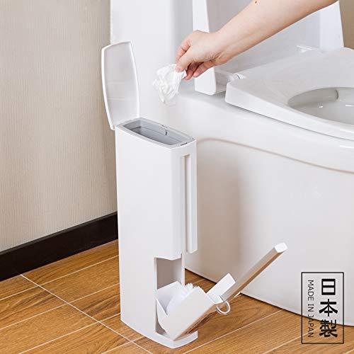 QiXian Kreative Toilettenbürste Papierkorb Integrierte Toilette Keine Toten Winkel Reinigungsbürste Set Stark Robust - Tote Papierkorb