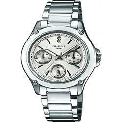Casio SHE-3502D-7AER - Reloj de pulsera Mujer, Acero inoxidable, color Plata