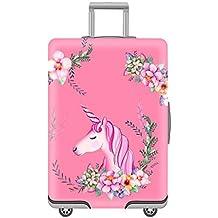 Cubierta de Equipaje en Flamingo Form,Duradero Protector Lavable Plegable, el tamaño del Protector