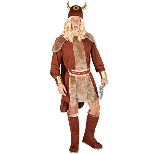 stüm Winkinger | Wildes Gewand mit Umhang | inkl. Gürtel + Hut und Stiefelstulpen (L | Nr. 301361) (M Und M Kostüm Party Stadt)
